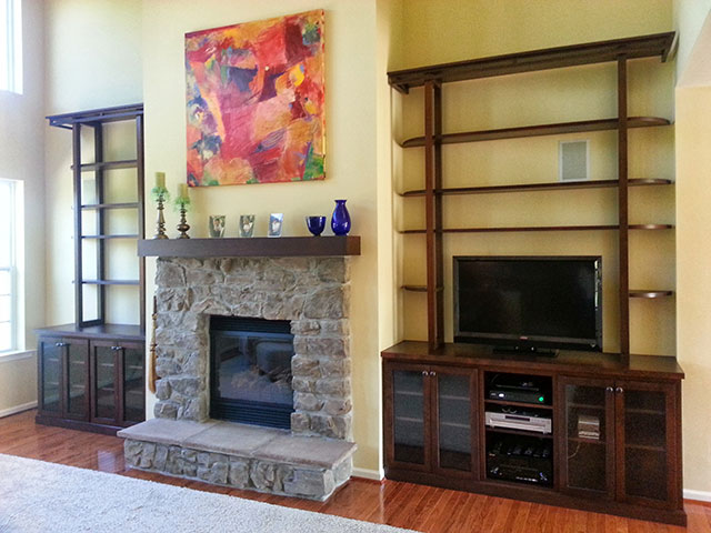 Make Your Room Appear Larger Built In Cabinets Around Fireplace Philadelphia